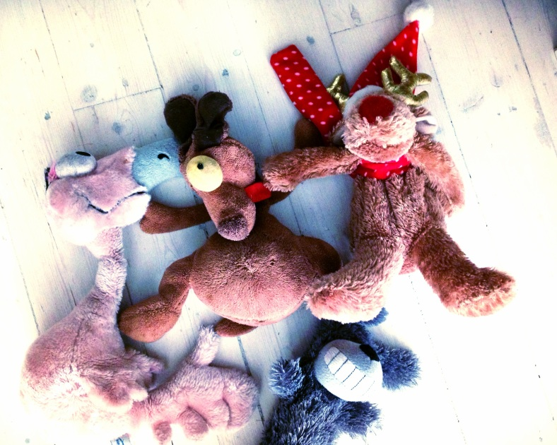 Dog toy cemetery