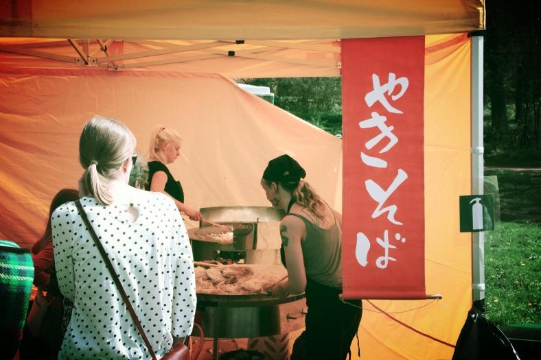 Preparing Japanese food