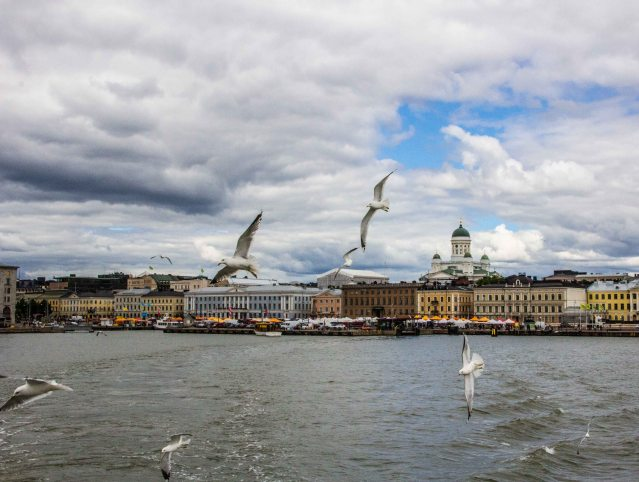 Helsinki seen from the Suomenlinna ferry