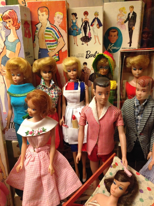 Barbies and Kens from the 50's and 60's